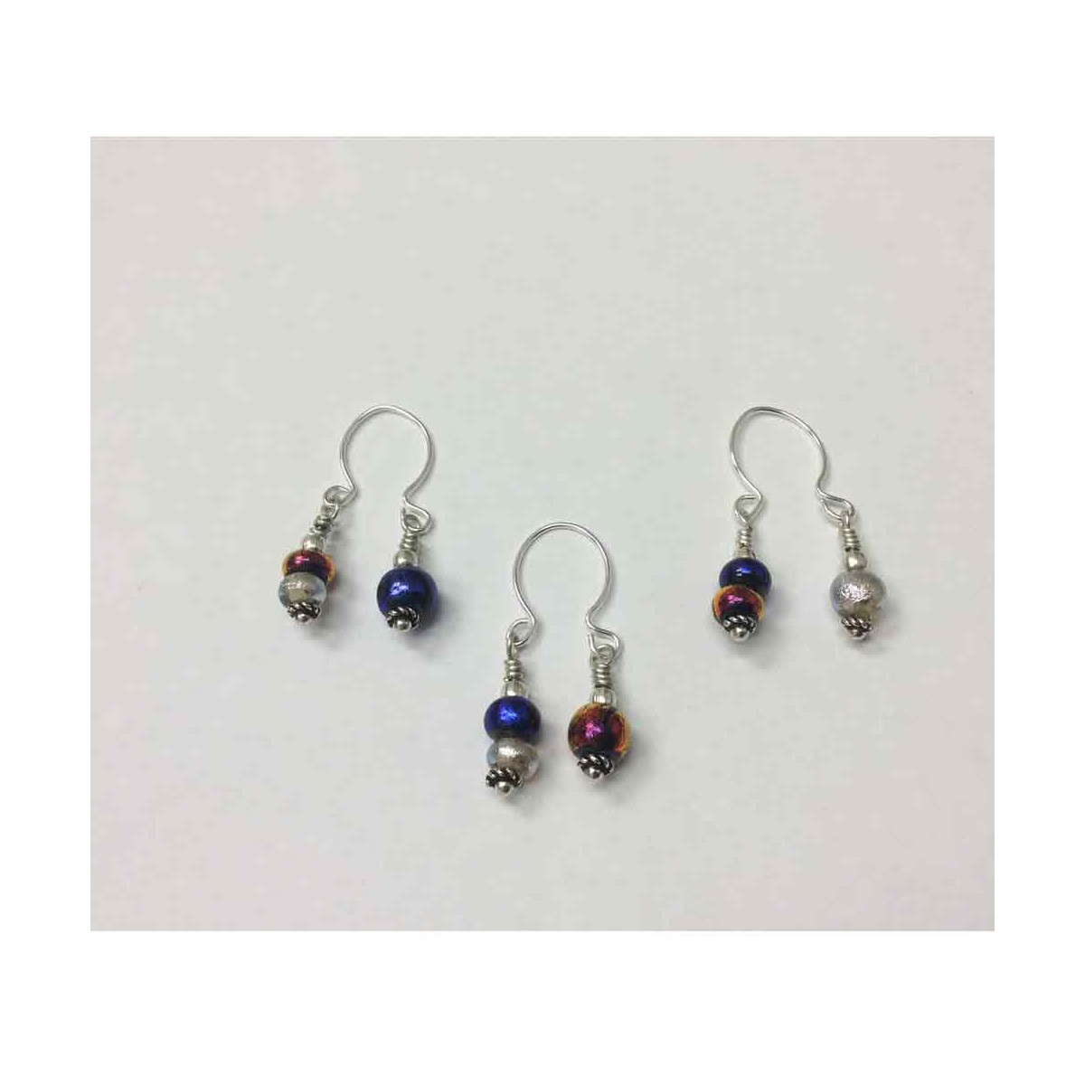 Wine Charm - 7mm and 5 mm Set of 3