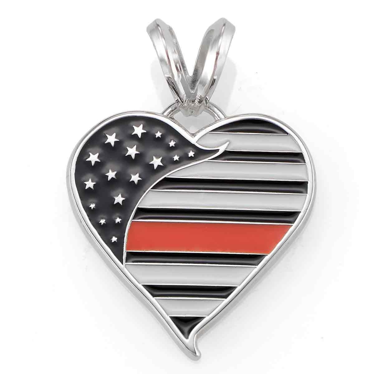Thin Orange Line Heart Pendant