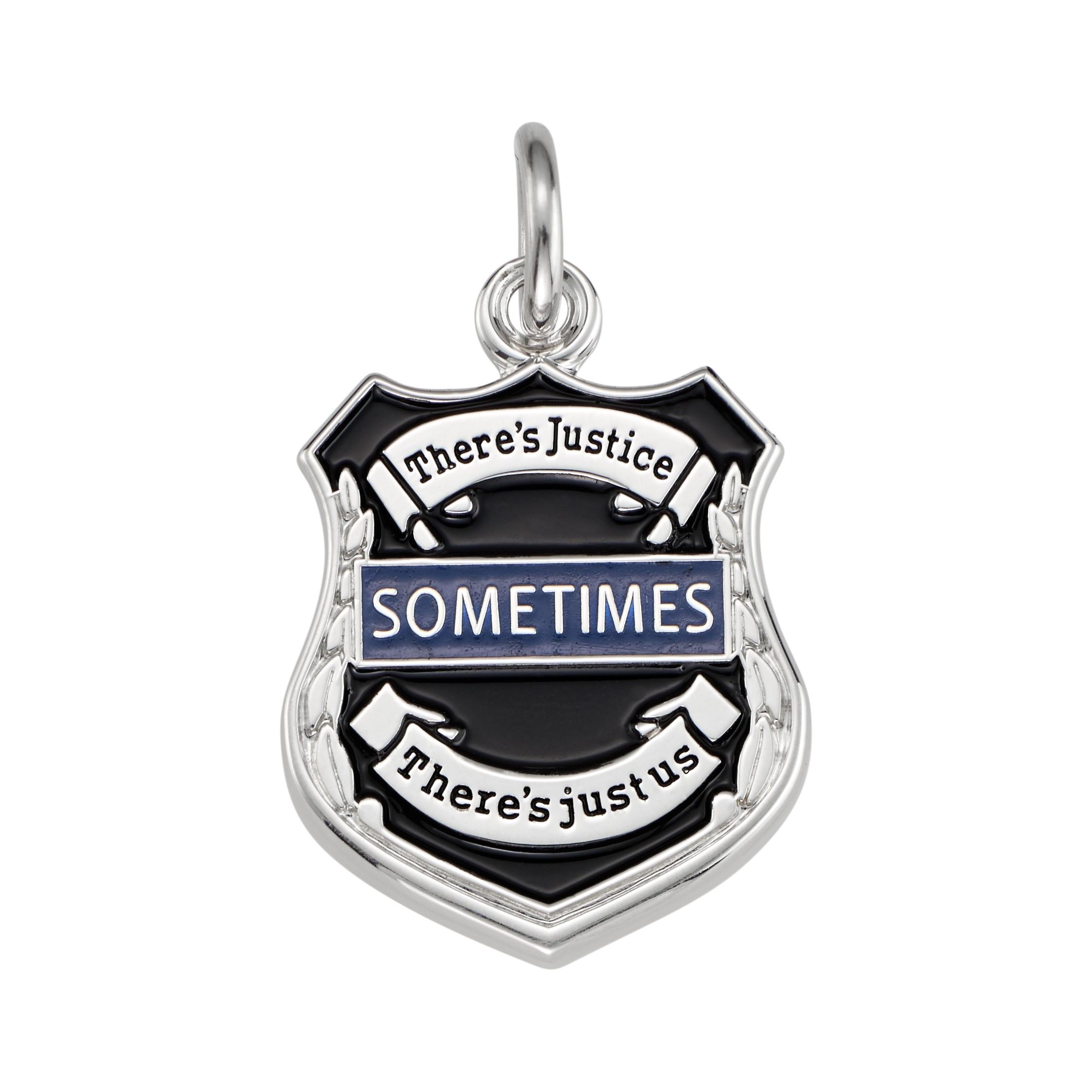 Thin Blue Line Badge Charm