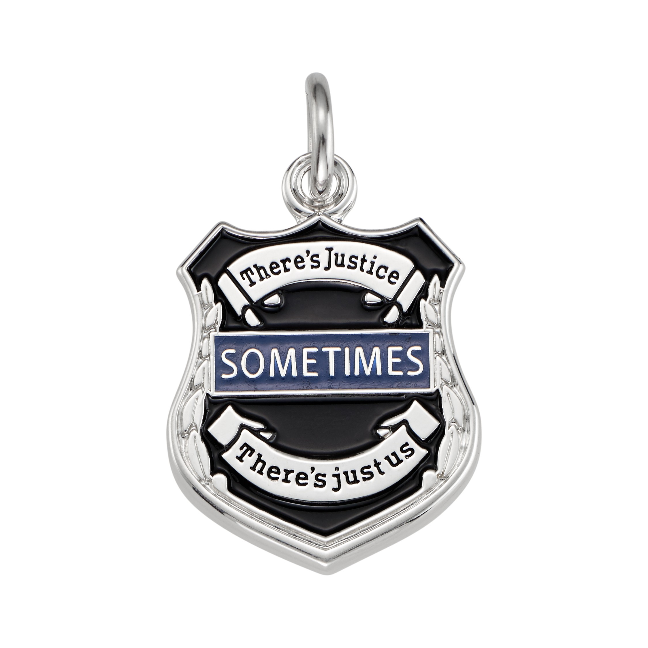 Thin Blue Line Badge Pendant