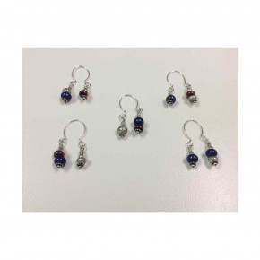 Wine Charm - One 7mm & Two 5mm Set of 5