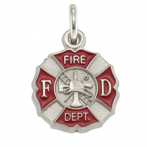 Fire Department Shield Charm