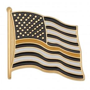 Thin Yellow Line Flag Pin
