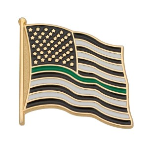 Thin Green Line Flag Pin