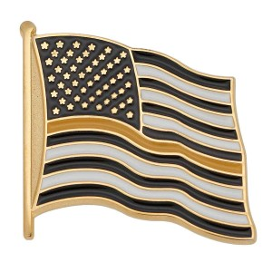 Thin Yellow Line Flag Pin